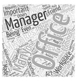 Common Office Management Mistakes Word Cloud vector image