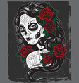 Day of dead girl vector | Price: 3 Credits (USD $3)