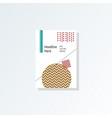 design cover poster a4 catalog book brochure vector image vector image
