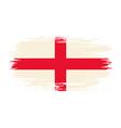 english flag brush grunge background vector image vector image