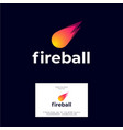 fireball logo and letters icon vector image vector image