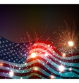 fireworks background for 4th july vector image
