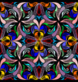 floral colorful paisley seamless pattern vector image