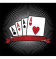 Four Aces Poker icon vector image vector image