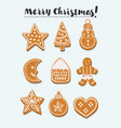 gingerbread set vector image
