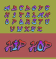 graffity alphabet hand drawn grunge font vector image vector image