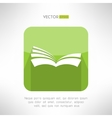 Green book icon Notebook sign Learning and ebook vector image