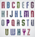 Grunge colorful rubbed upper case letters vector image vector image