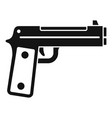 guard pistol icon simple style vector image vector image
