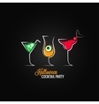 halloween party cocktails menu design background vector image