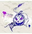 Hand drawn Halloween Pumpkin vector image