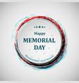happy memorial day memorial day badge concept vector image vector image