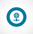 internet bold blue border circle icon vector image