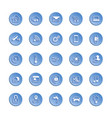 internet of things web icon set icon set of vector image vector image