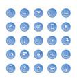 internet of things web icon set icon set vector image