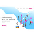isometric flat landing page template vector image vector image