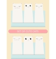 Kittens pocket greeting birthday or shower card vector image
