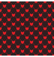 lace pattern with heart vector image vector image