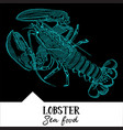 lobster for a seafood menu vector image vector image