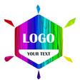 logo tag rainbow vector image vector image
