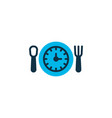 lunch time icon colored symbol premium quality vector image