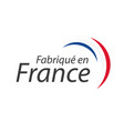 made in france simple symbol with french tricolor vector image vector image