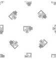 new web mail pattern seamless vector image vector image