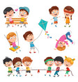 of children playing vector image vector image