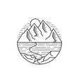 outdoor line art mountain vector image vector image