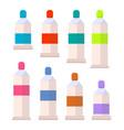 palette of acrylic or gouache aquarelle paints vector image