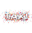 Paper thanks confetti sign vector image