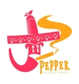 pink and orange of chili pepper logo vector image vector image