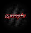 redline logo type design symbol vector image vector image