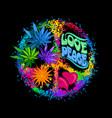 retro hippie symbol vector image vector image