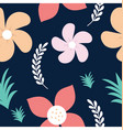 roses and daisy seamless background vector image vector image