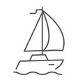 sail yacht thin line icon travel and tourism vector image vector image