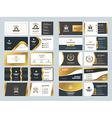 Set of creative golden business card design vector image vector image
