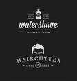 set of vintage barber shop badges vector image vector image