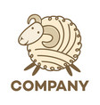 sheep and wool logo vector image