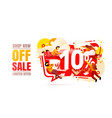 shop now off sale 10 interest discount limited vector image vector image
