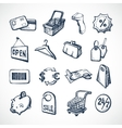 Shopping Sketch Icons vector image vector image