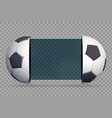 soccer scoreboard with sport balls vector image