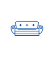 sofa line icon concept sofa flat symbol vector image vector image
