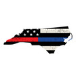 state north carolina police and firefighter vector image vector image