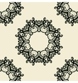 Stylized oriental lace seamless wallpaper vector image vector image