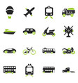 transport types icons set vector image