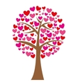 tree hearts love romantic icon vector image