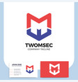 two letter m shield logo icon design template vector image vector image