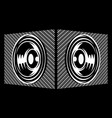 two speakers side view carbon fiber background vector image