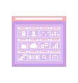 web folder interface opening storage vector image vector image